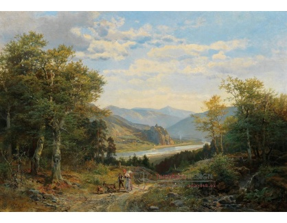 DDSO-1526 Bernhard Mühlig - Pohled na údolí Labe v Českém středohoří