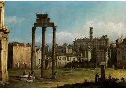 Slavné obrazy XI-119 Canaletto - Zřícenina fóra v Římě