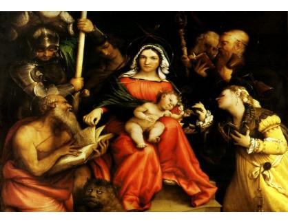 VLL 04 Lorenzo Lotto - Mystické manželství svaté Kateřiny Alexandrijské
