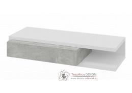 HOLLY, konzolový stolek, bílá / šedý mramor