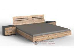 SUSAN 351, postel 160x200cm, grafit / stříbrná jedle