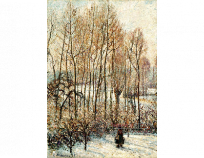 VCP-486 Camille Pissarro - Ranní slunce na sněhu v Eragny