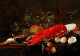 Slavné obrazy X DDSO-1004 Pieter van Overschee - Zátiší s humrem
