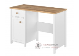 TOJAVA 03, psací stůl , bílá / dub nash