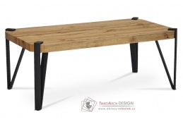 AHG-260 OAK, konferenční stolek 110x60cm, černý mat / divoký dub