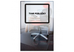PC, podložka pod židli s nopy na koberce 110x120cm tvar O, čirá
