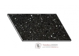 Kuchyňská pracovní deska 60 cm ANDROMEDA černá