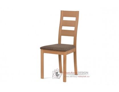 BC-2603 BUK3, jídelní židle, buk / látka hnědá