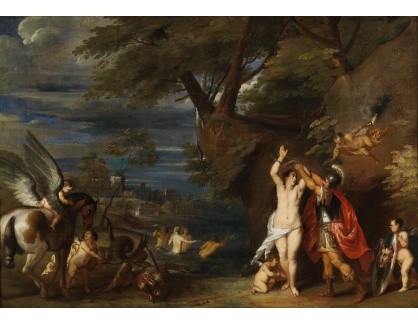 Slavné obrazy III-DDSO-604 Frans Wouters - Perseus osvobozující Andromedu