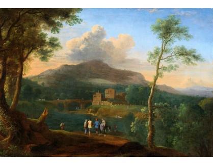 Slavné obrazy IX DDSO-687 Herman Swanevelt - Jižní horská krajina s postavami