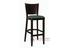ALBERT 363367, barová židle, bukový masiv / koženka