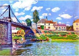 VANG1 Alfred Sisley - Most v Villeneuve-la-Garenne