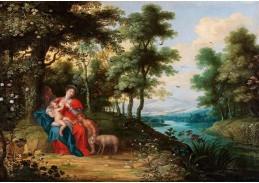 Slavné obrazy II-DDSO-390 Adriaen van Stalbemt - Svatá rodina s Janem Křtitelem