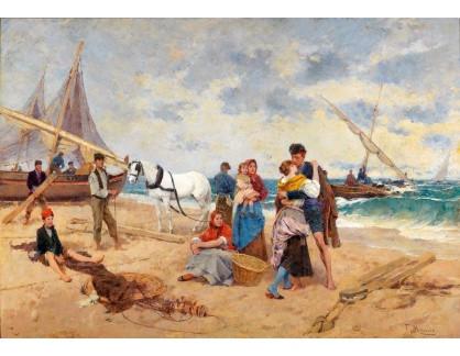 Slavné obrazy III-DDSO-588 Francisco Miralles i Galaup - Rybář