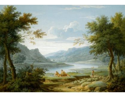 Krásné obrazy IV-2 George Lambert - Klasická krajinomalba