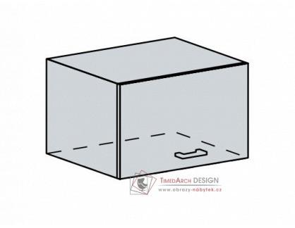 VERONA, horní skříňka výklopná 60VP, bílá / zlatý jasan