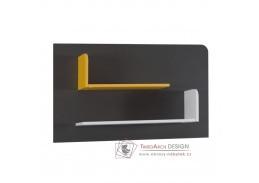 MATEL B06, police, bílá / šedý grafit / enigma / žlutá