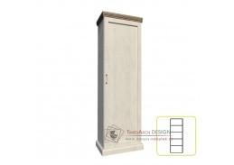 ROYAL S1D, skříň 1-dveřová policová, borovice bílá / dub divoký