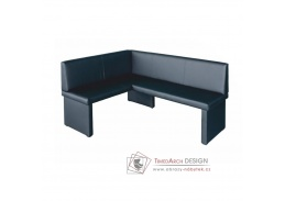 MODERN, rohová lavice - levá, ekokůže černá