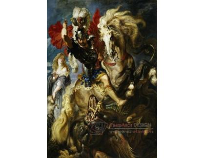 VRU105 Peter Paul Rubens - Svatý Jiří a drak