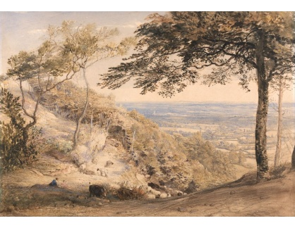 Slavné obrazy XIV-93 Samuel Palmer - Krajina Kentu