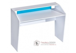 Pracovní stůl TRAFICO 9 bílá / tyrkysová