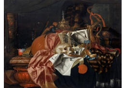 D-6514 Franciscus Gijsbrechts - Vanitas s hudebními nástroji