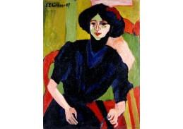 D-8242 Ernst Ludwig Kirchner - Portrét ženy