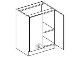 DARK BIS, dolní skříňka 2-dvéřová D60, bílá / wenge
