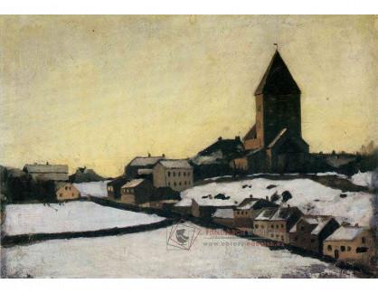 VEM13-46 Edvard Munch - Starý kostel v Aker