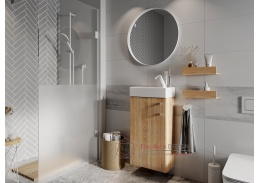 OMAGH, koupelnová sestava nábytku, dub sonoma