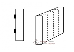 SELECT, segment bok C - pravý, látky A1