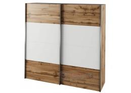 GABRIELA, šatní skříň s posuvnými dveřmi 200cm, dub wotan / bílá