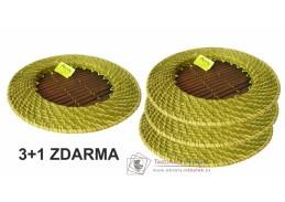 Bambusovo ratanový tácek zelený 3+1 ZDARMA