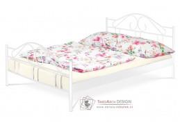 BED-1909 WT, kovová postel 140x200cm, bílá