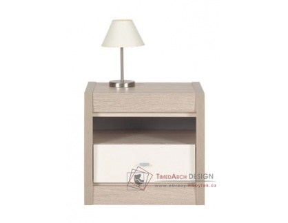 AXEL AX 18, noční stolek, thuje / dub latte / jasmínový lesk