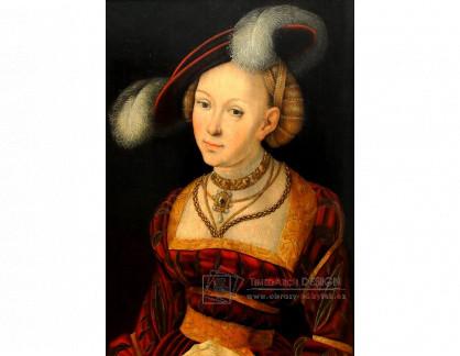 VlCR-232 Lucas Cranach - Portrét ženy s kloboukem