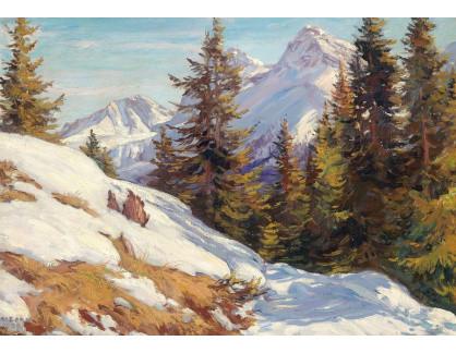 Slavné obrazy XVI-265 Arnold Zord - Graubünden ve Švýcarsku