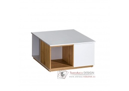 KNOX E13, konferenční stolek, ořech select / bílá