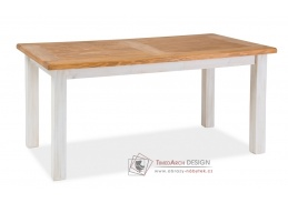 POPRAD, jídelní stůl, ořech / borovice bělená