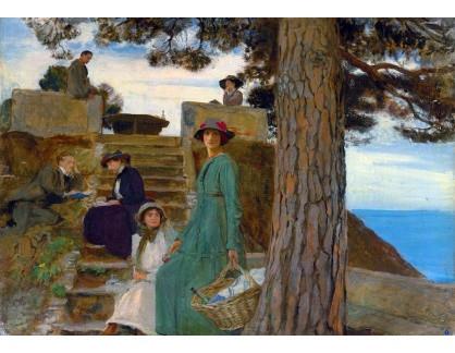 VANG211 George Spencer Watson - Piknik v Portofino