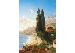 Slavné obrazy I-DDSO-9 Albert August Zimmermann - Pohled na Monako