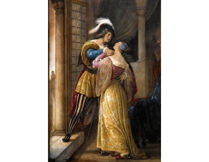 Slavné obrazy I-DDSO-108 Francesco Hayez - Romeo a Julie