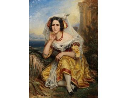 Slavné obrazy I-DDSO-165 Guillaume Francois Gabriel Lepaulle - Dívka z Frascati