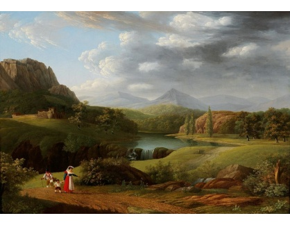 Slavné obrazy IX DDSO-725 Jacob Wilhelm Mechau - Krajina Campagna