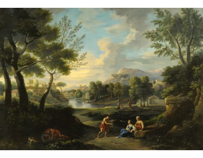 Slavné obrazy XVI-408 Claude Lorrain - Odpočinek v krajině