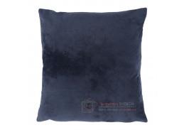 ALITA 6, polštář 45x45cm, sametová látka - tmavě modrá