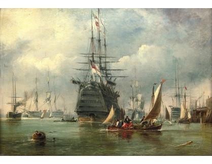 VANG207 George Chambers - Válečné lodě v přístavu v Portsmouthu