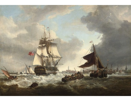 VL203 George Webster - Stahování plachet před vstupem do přístavu Portsmouth