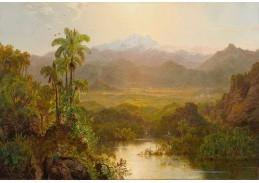 Slavné obrazy VI-106 Louis Rémy Mignot - Krajina Ekvádoru